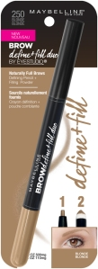 Maybelline New York's Brow Define+Fill Duo for Naturally Full Brows in the shade Blonde.